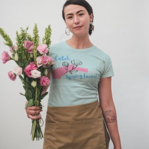 t-shirt-mockup-of-a-woman-holding-a-flower-bouquet